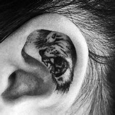 ears  roaring tiger head tattoo images tiger