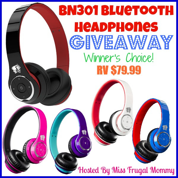BN301 Bluetooth Headphones Giveaway