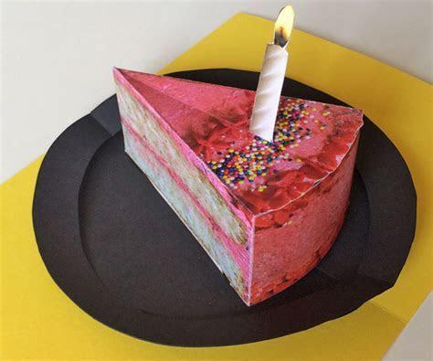 Printable Cake: make a delicious birthday pop up card