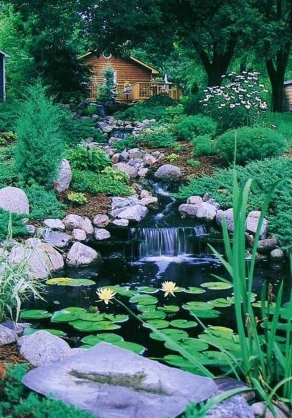 Back Yard Ponds and Waterfalls Ideas
