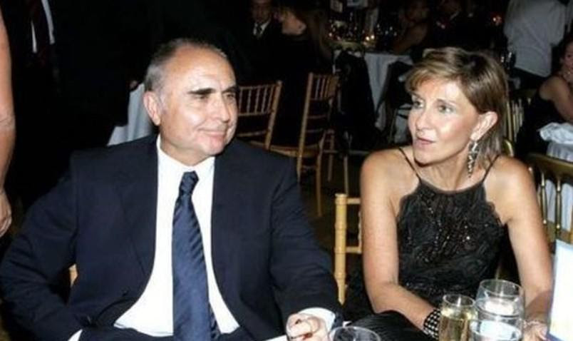 Το ζεύγος Θεόδωρου και Εμμανουέλλας Βασιλάκη, βασικοί μέτοχοι της Aegean Air