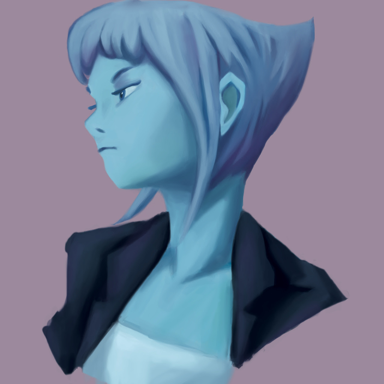 Lapis Lazuli Portrait! COMMISSIONS ARE OPEN! Please reblog and spread the word to help out a cute art student ❤️️