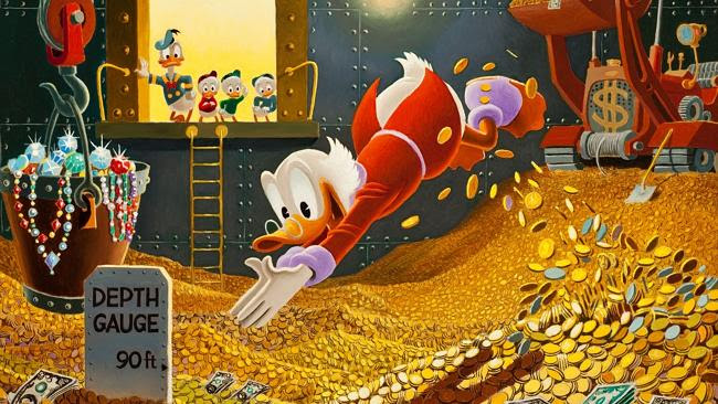 Scrooge McDuck was never shy about his wealth.