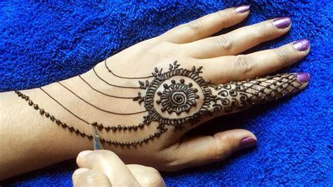 simple mehandi design hands easy quick henna