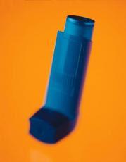 Fotografía de un inhalador para el asma