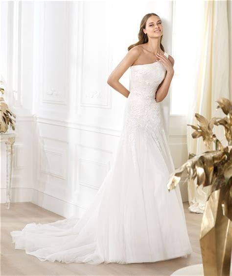 A Line Asymmetrical One Shoulder Draped Tulle Lace Beaded