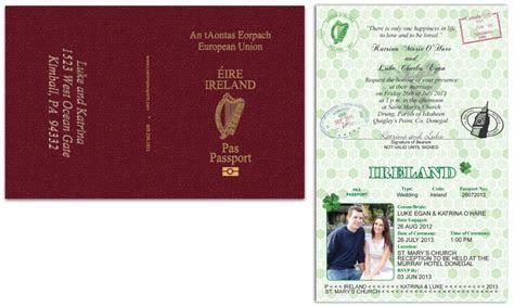 Passport 52   Ireland   Custom Passport Invitations