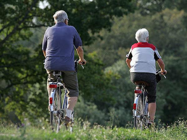 Resultado de imagem para elderly cycling