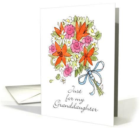 Bouquet   Granddaughter Wedding Congratulations card (1370878)