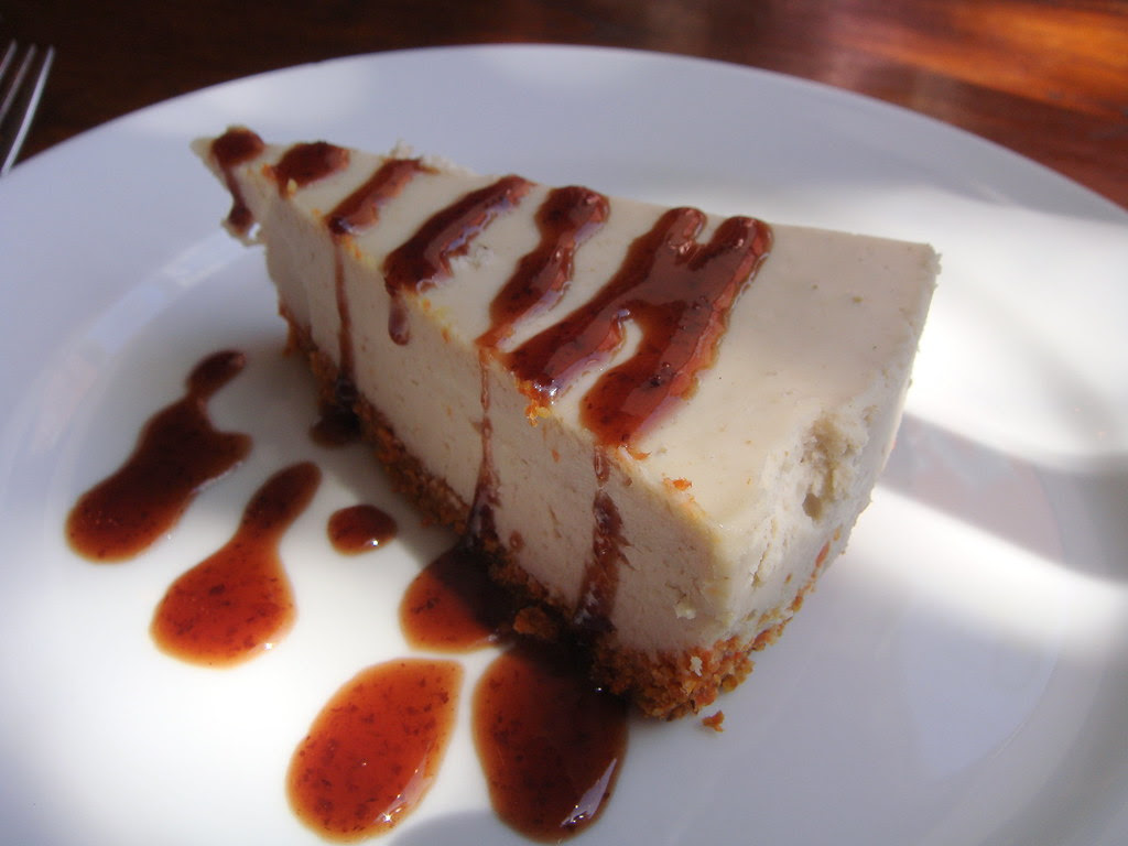 Candy Cap Mushroom Cheesecake