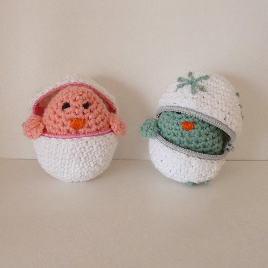 Easter eggs & baby chicks Crochet Amigurumi Pattern PDF ebook - original crochet tutorial with zipper eggs