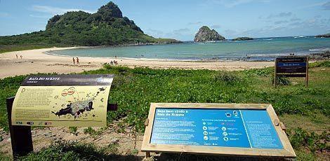 Praia do Sueste, onde ocorreu o ataque, permanece fechada / Foto: JC Imagem