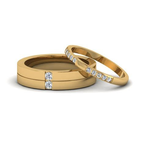 His And Hers Matching Diamond Annivesary Wedding Bands
