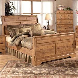 nebraska furniture mart ashley rustic pine king sleigh
