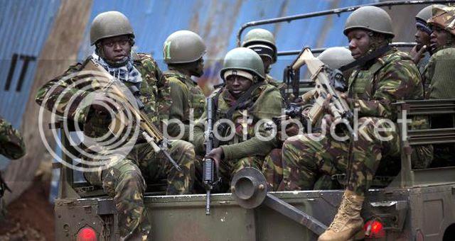 Kenyan soldiers