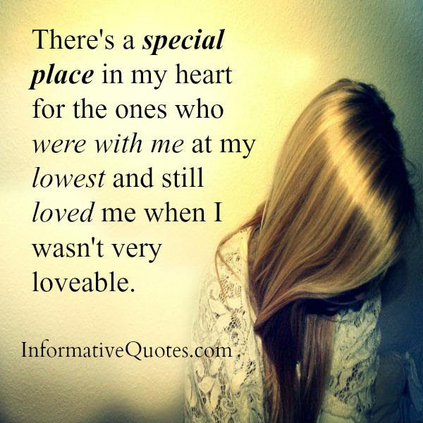 Theres A Special Place In My Heart For The Ones Who Were With Me