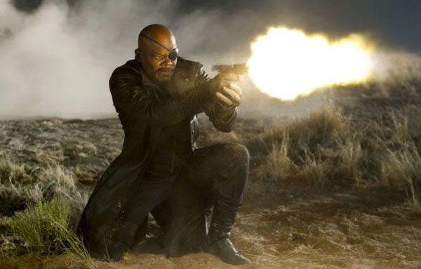 Nick Fury gets in on the action in THE AVENGERS.