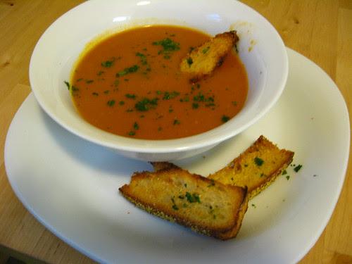 Potato and Roasted Tomato Soup!