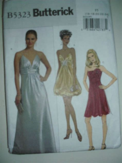 wedding bridesmaid dress formal pattern butterick