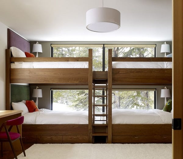 Awesome Bunk Beds for Kids: Large Bed for Four | Modern Interiors