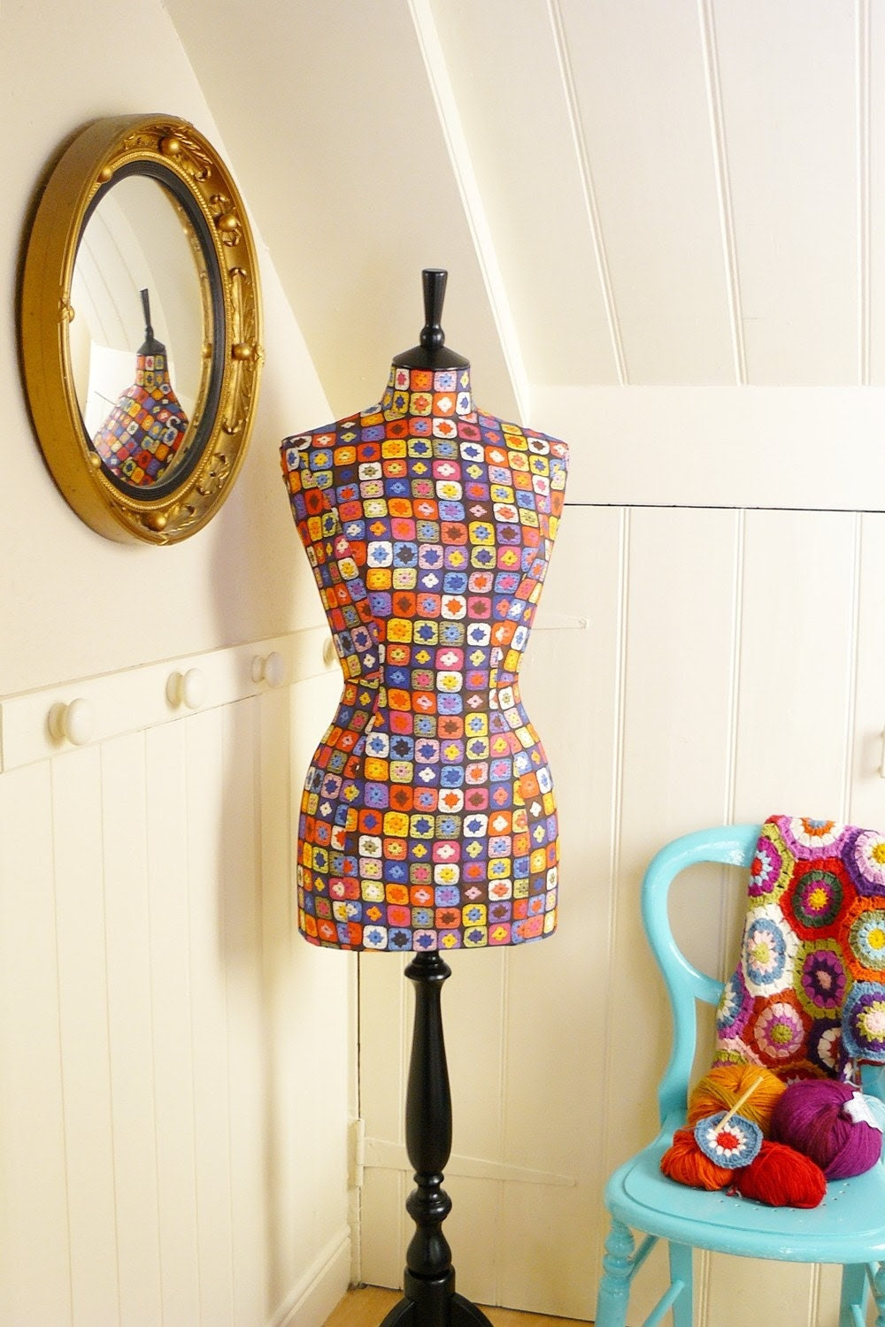 NEW Quirky Fun Crochet Mannequin Dressform - Yarn