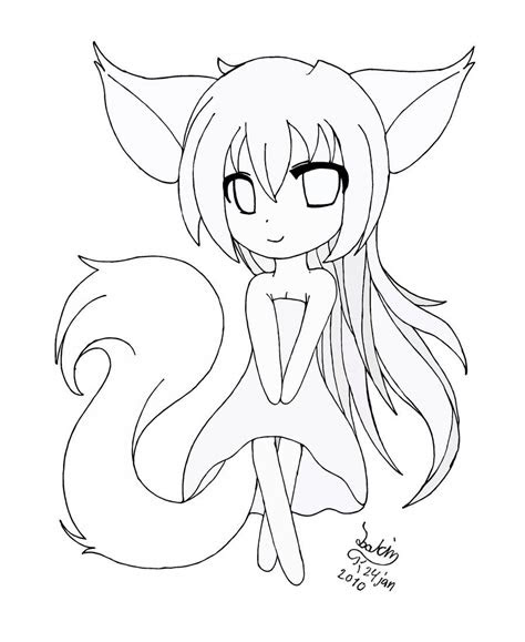 anime chibi girl drawing cartoon girls drawings