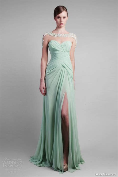 20 best images about Mint & Light Green Gowns on Pinterest