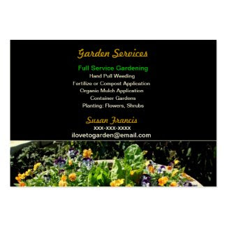Garden Services Business Card Business Card Templates