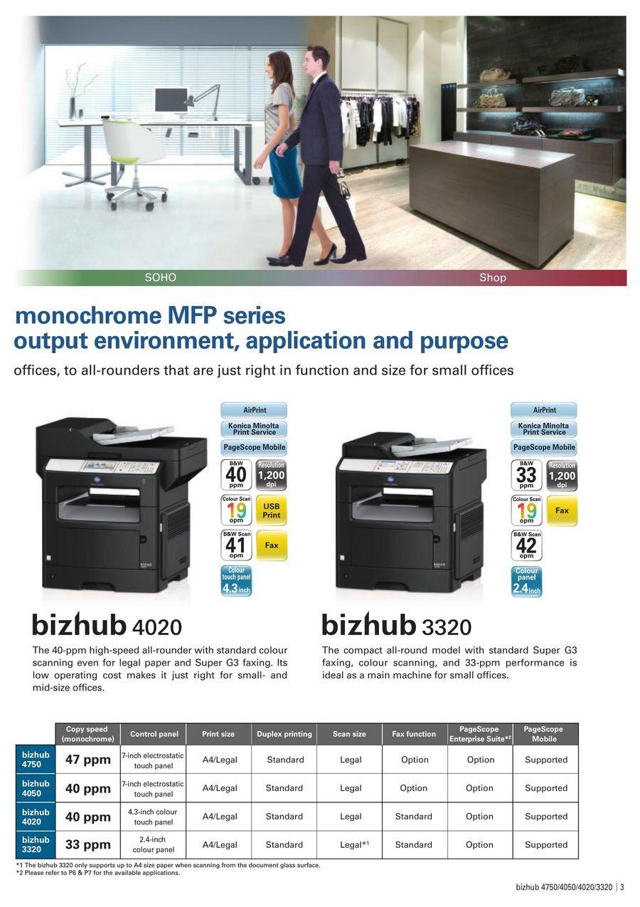 Bizhub 4020 3320 2014 By Konica Minolta Business Solutions