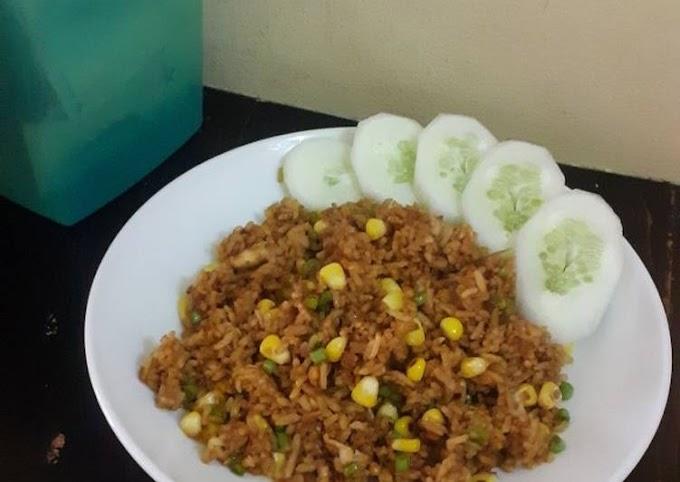 Cara Mudah Membuat Nasi goreng sayuran Lezat