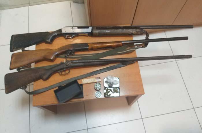 Θεσπρωτία: Κατασχέθηκαν τρία κυνηγετικά όπλα στα σπίτια των συλληφθέντων
