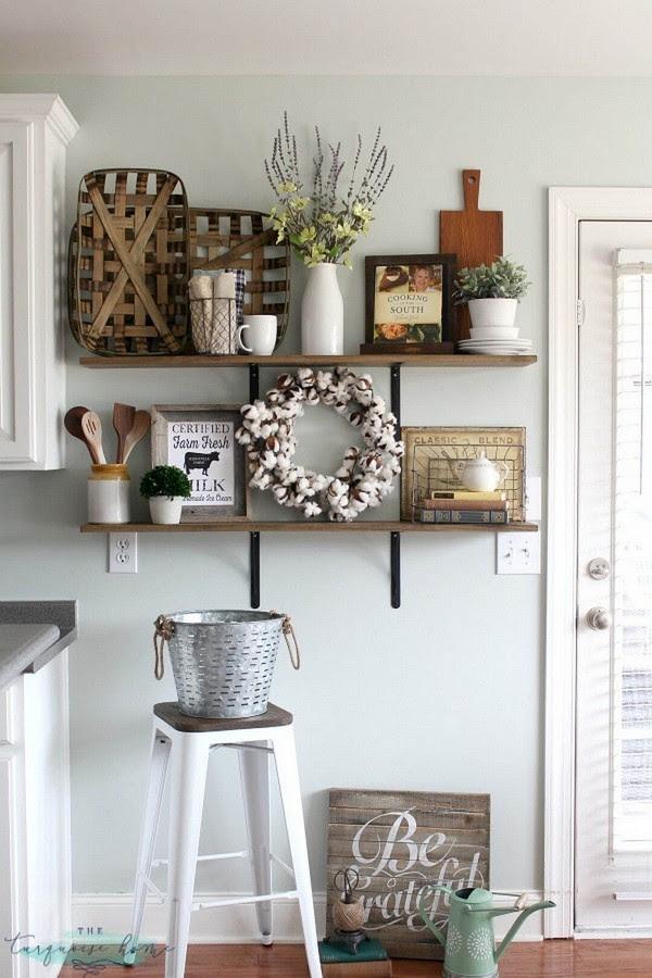 20 Gorgeous Kitchen Wall Decor Ideas to Stir Up Your Blank ...