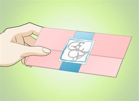 3 Ways to Make Elegant Wedding Invitations at Home   wikiHow