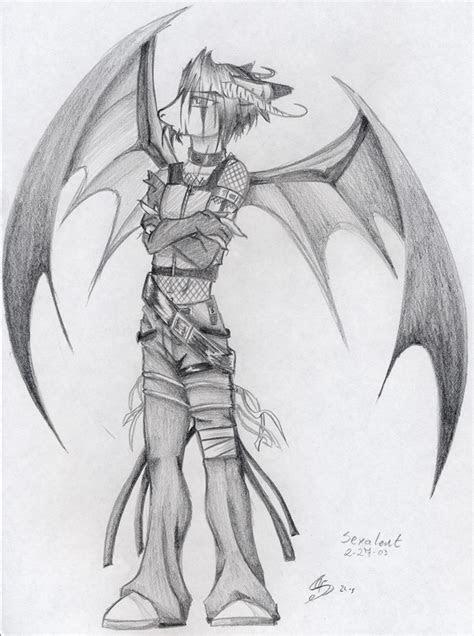 demon anime drawings  pencil