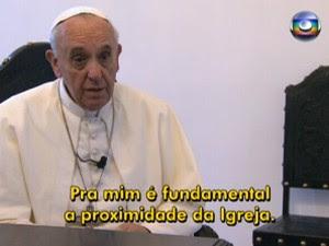 proximidade da igreja papa (Foto: Reprodução/TV Globo)