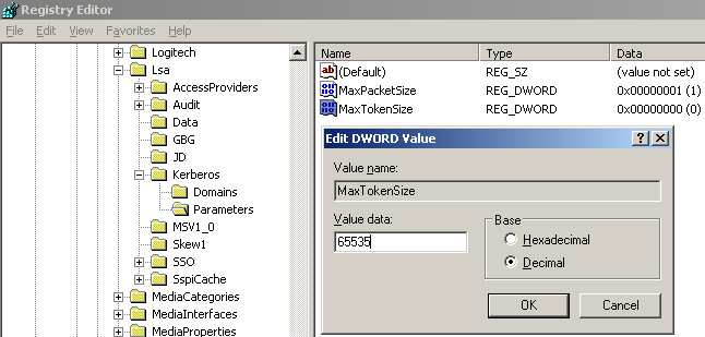 Editing the value of the Registry entry