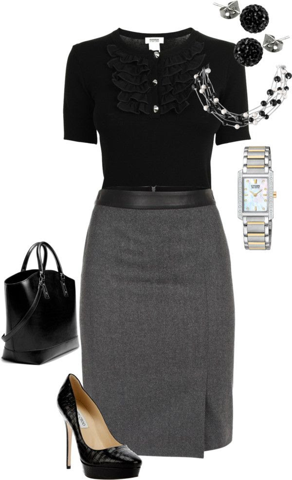 Grey Skirt Outfit