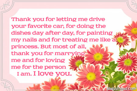 Thank You For Letting Me Drive Love Message For Husband