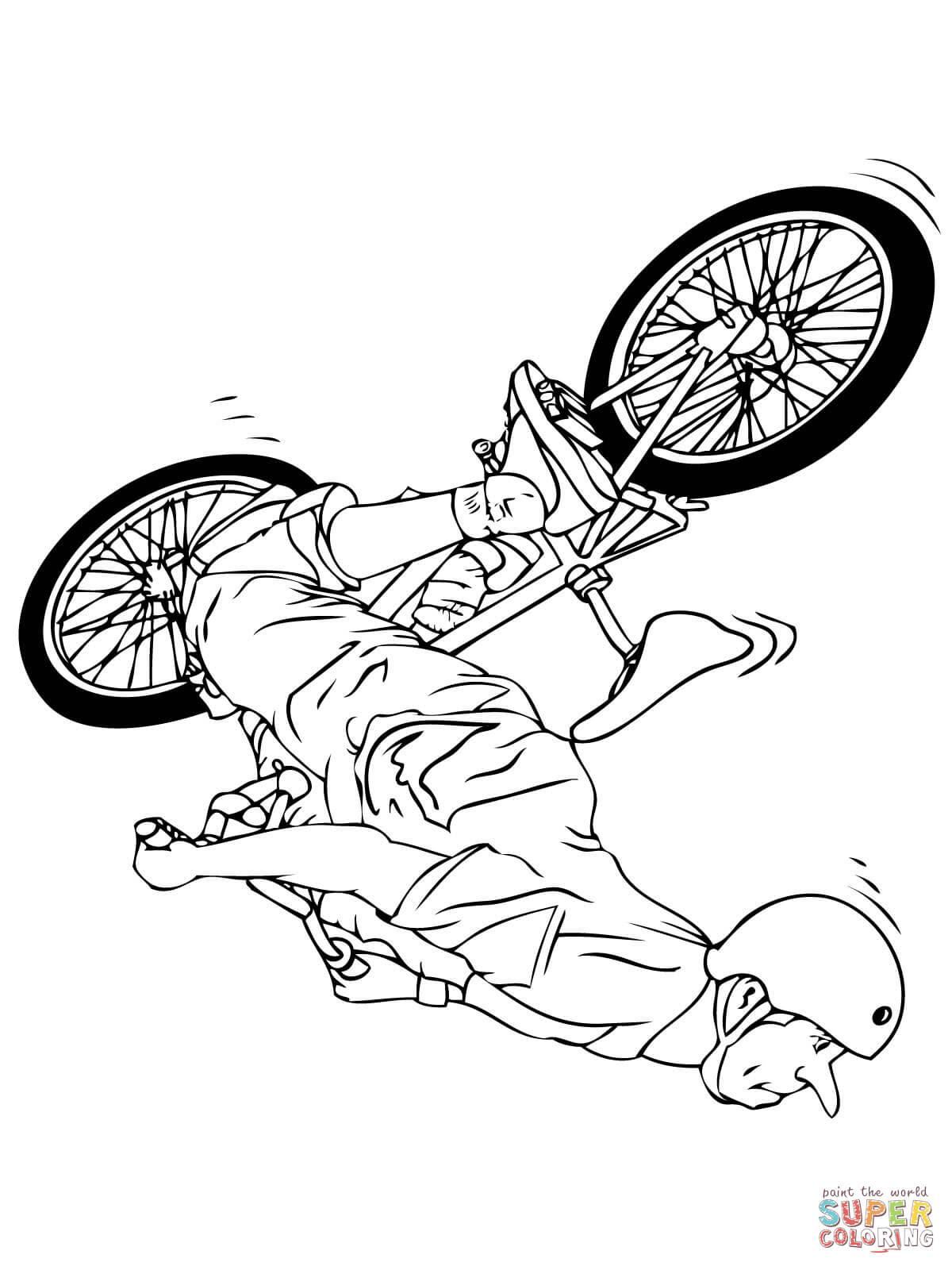 er sur la Flipwhip sur BMX coloriages
