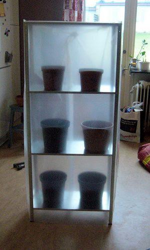 Greenhouse IKEA hack (cheap shelf + clear shower curtain.  | For E…