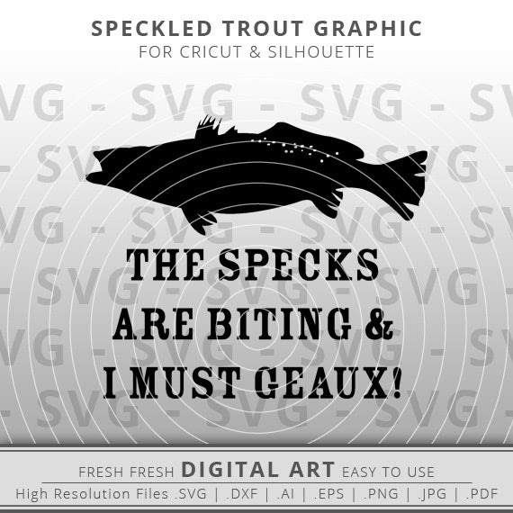 Download Speckled Trout Svg Digital Download For Cricut Silhouette Fresh Fresh