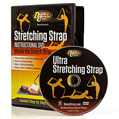 DanceCrazy Ultimate Stretching Exercises DVD - PIlates and Yoga Stretch Belts and Straps Muscle Relief Step by Step
