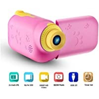 RUilY® Kids Camcorder 5MP 16MB Memory 2.0 TFT Screen Mini for Kids 2 Camcorder Camera (Pink)