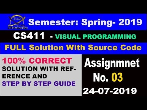 CS411 Assignment 3 Solution Spring 2019 With Source Code