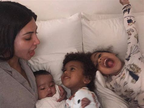 Kim Kardashian Cuddles Her 3 Kids in Bed: ''Welcome to the
