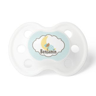 Sweet Dreams Teddy Bear {blue} Pacifier