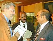 Meles Zenawi con Massimo Alberizzi