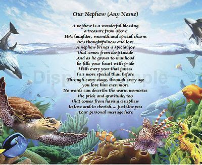 Personalized Poem For Nephew Birthday Or Christmas Gift
