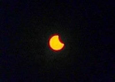 An image I took of the partial solar eclipse that took place on October 23, 2014.
