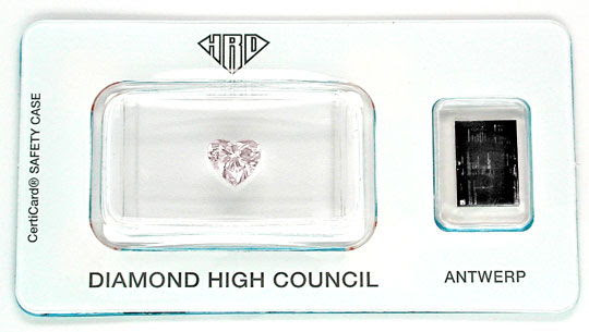 Foto 1, Herz-Diamant 1,01ct Light Brownish Pink !!! HRD Diamond, D5482